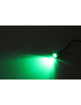 Super LED 50 lumen 12V 18mm verte
