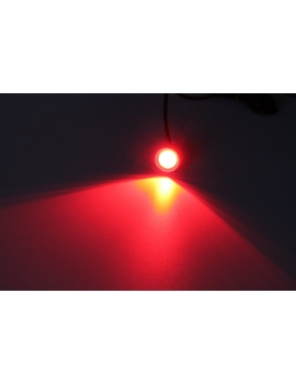 Super LED 140 lumen 12V 23mm rouge