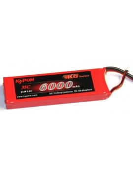 Pack alimentation batterie LiPo 2S 6000 mAh
