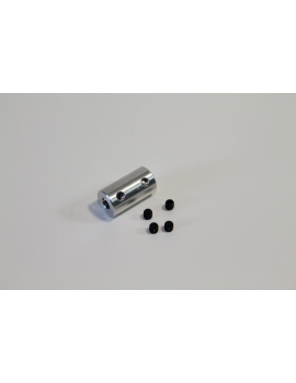 Accouplement rigide cardan aluminium 4/4 mm GRAUPNER